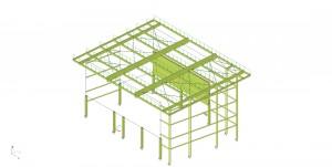 Vue 3D exemple structure pour le projet de frameries